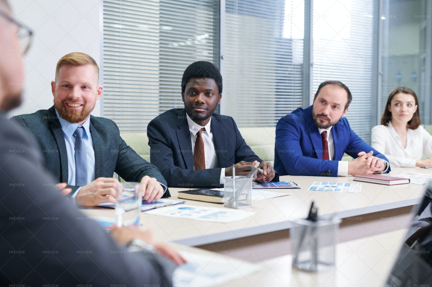 Several Multicultural Traders In...: Stock Photos