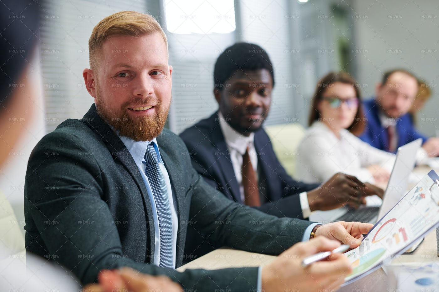 Young Confident Businessman With...: Stock Photos