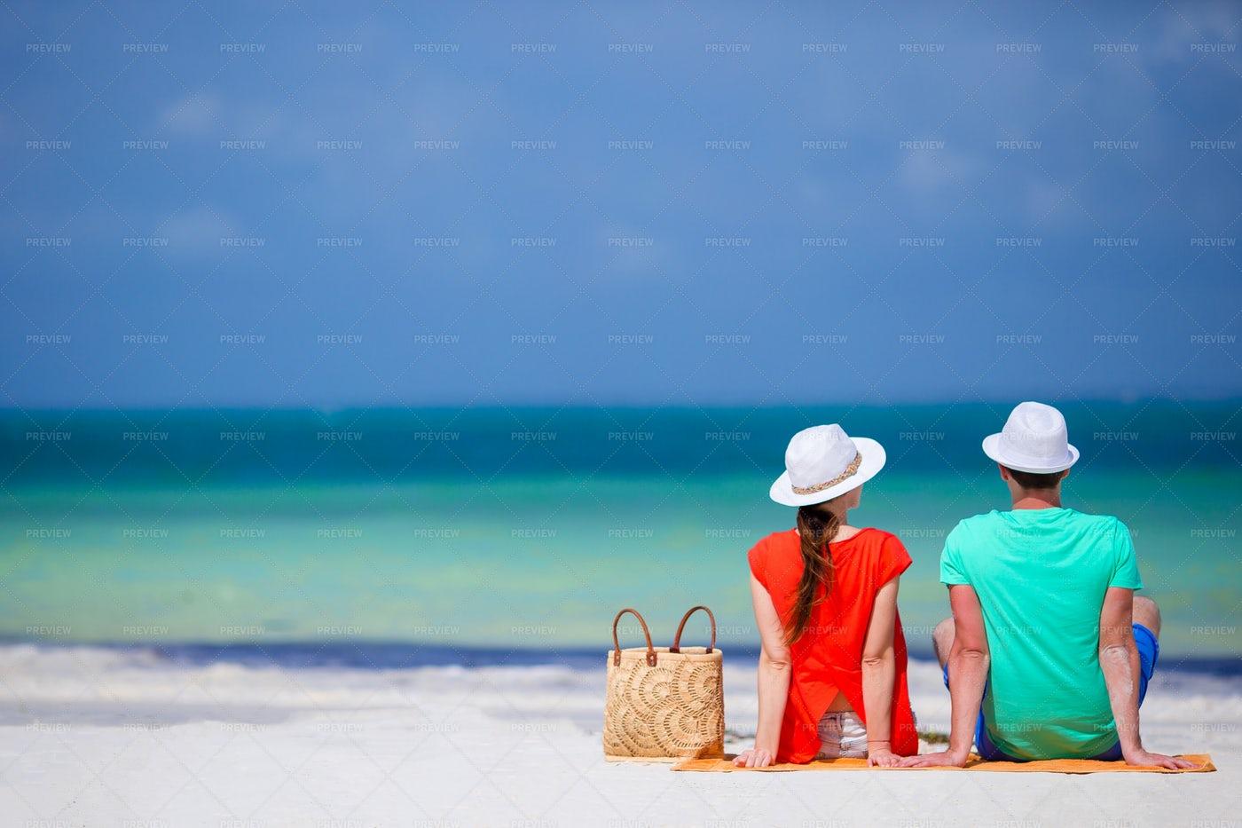 Couple Taking In Ocean Views: Stock Photos