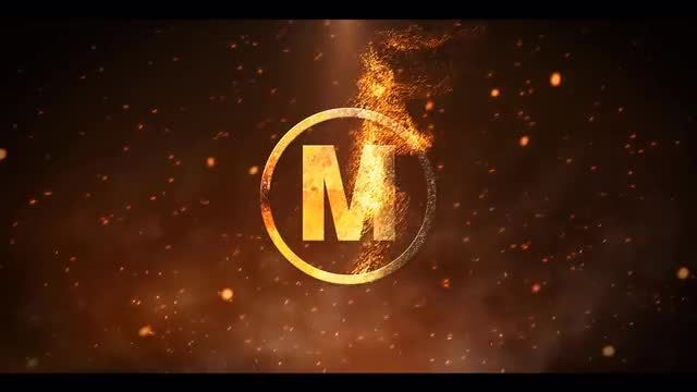 Particle Fire Logo Reveal: After Effects Templates