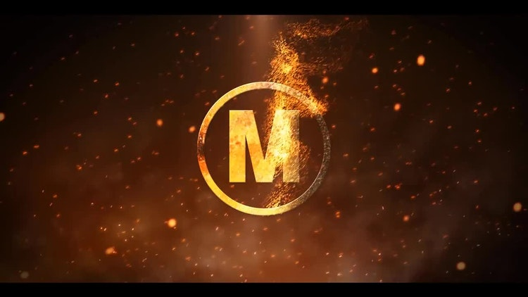 particle fire logo reveal after effects templates motion array