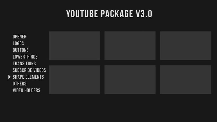 Youtube Package V3: Premiere Pro Templates