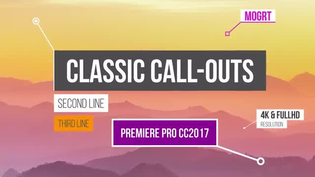 Classic Call-Outs: Motion Graphics Templates