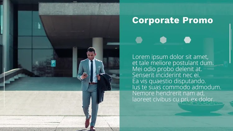 Polygonal Corporate Slideshow: Premiere Pro Templates