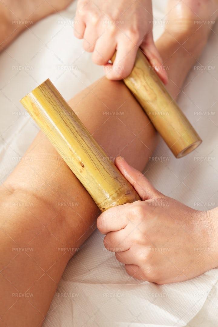 Thai Bamboo Massage: Stock Photos