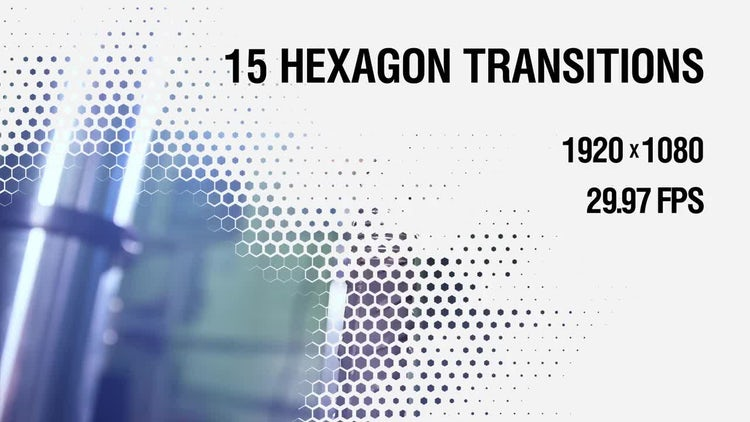 Hexagon Transitions Vol.1: Stock Motion Graphics