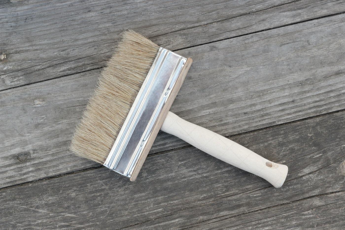 Brush On Wooden Background: Stock Photos