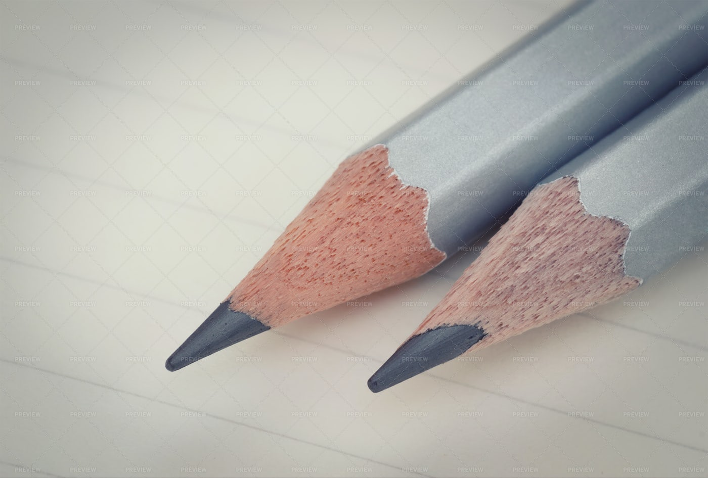 Two Graphite Pencils: Stock Photos