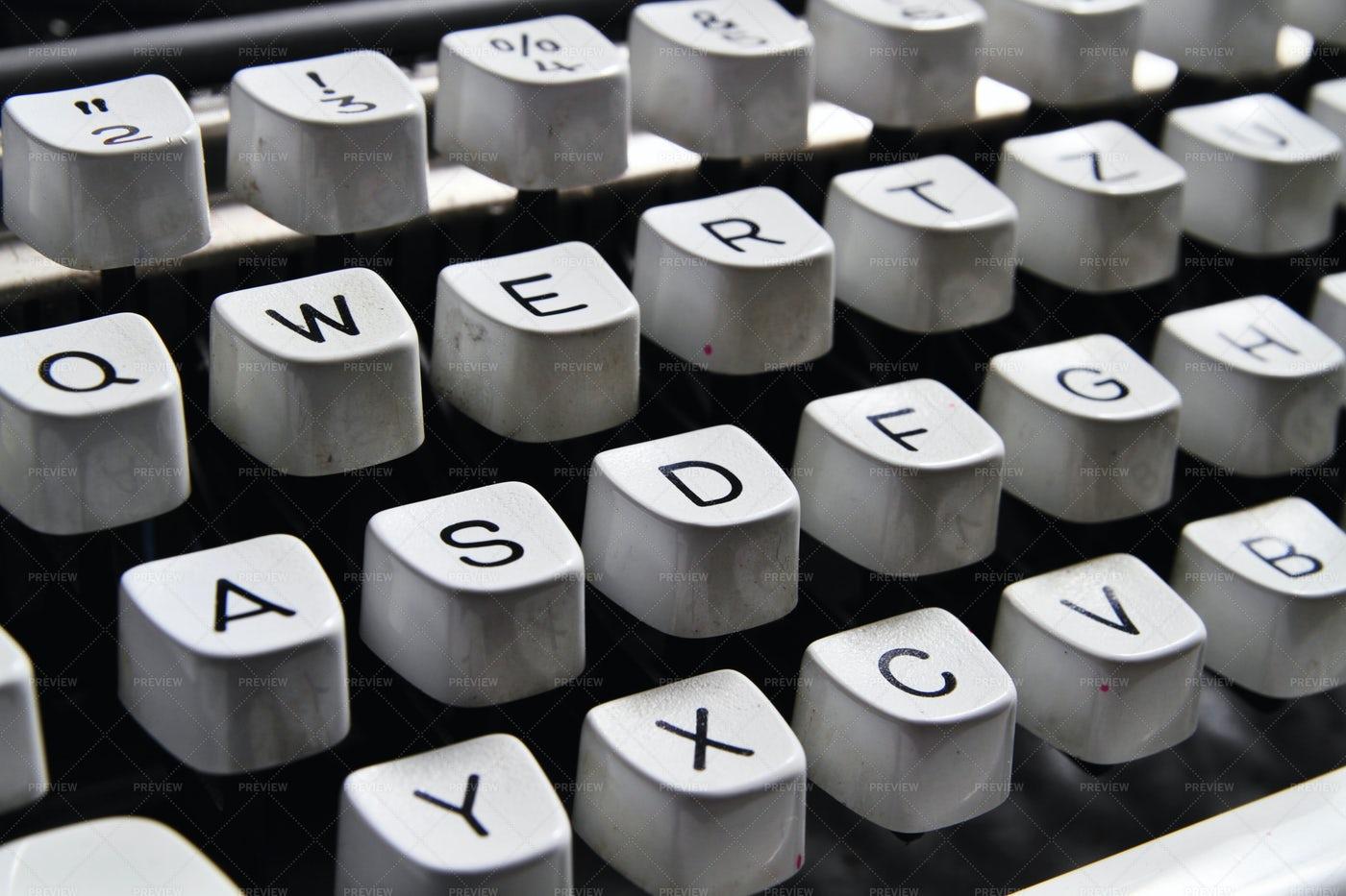 Keyboard Of A Typewriter: Stock Photos