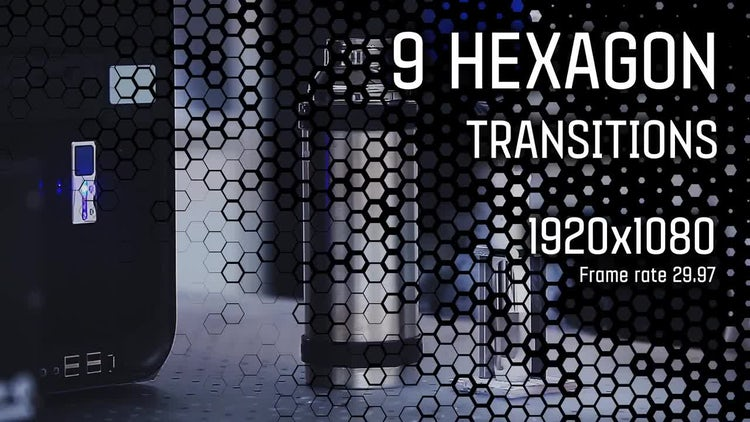 Hexagon Transition Vol.2: Stock Motion Graphics