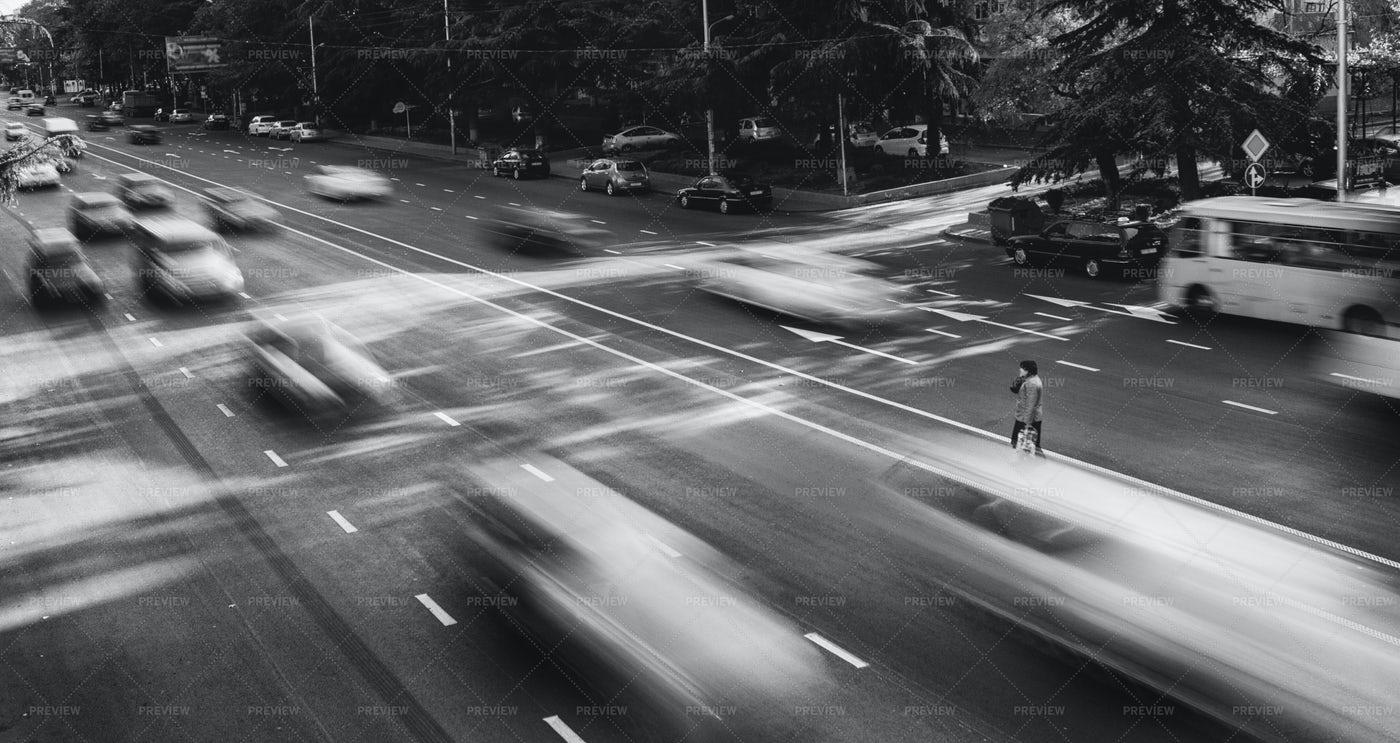 Crossing The Street: Stock Photos