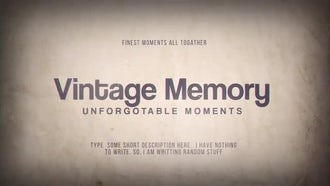 Vintage Memory: After Effects Templates