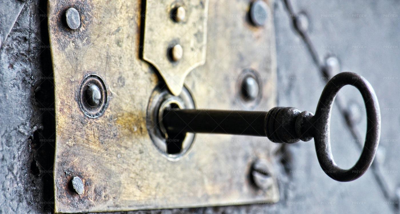 Key In The Lock: Stock Photos