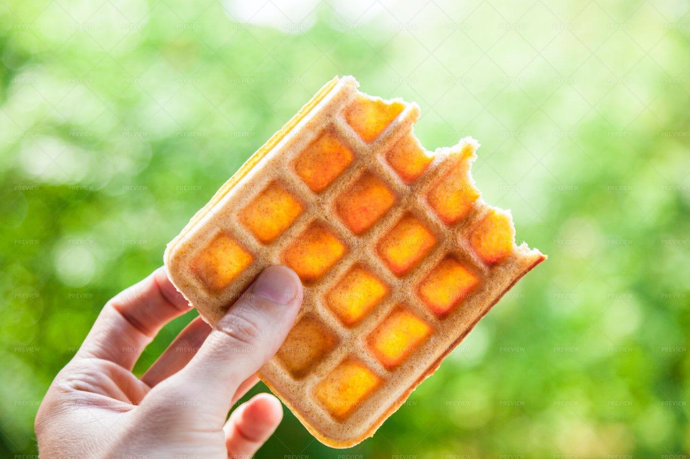 Belgian Waffle: Stock Photos