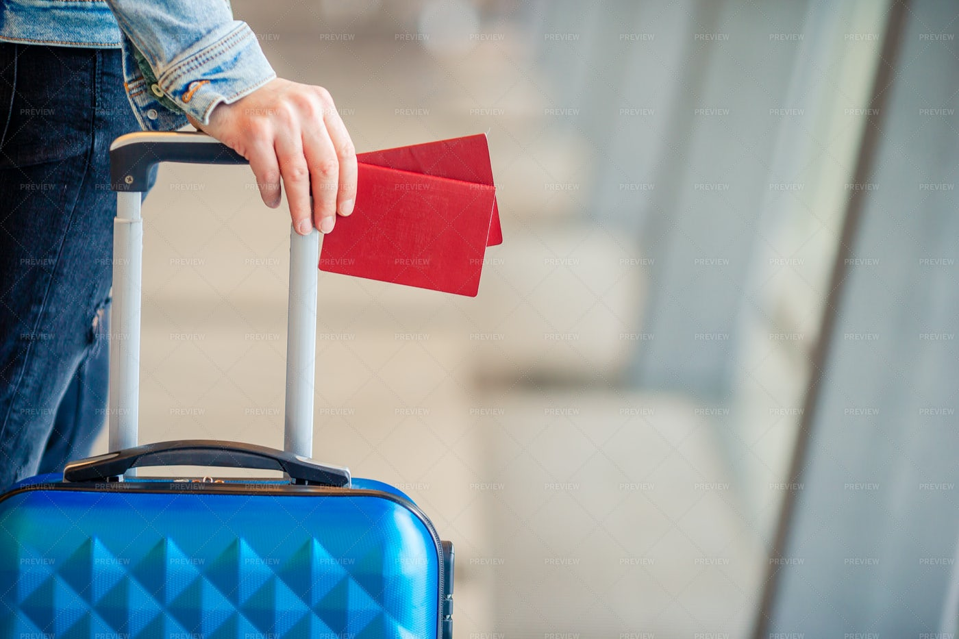 Tourist In Airport: Stock Photos