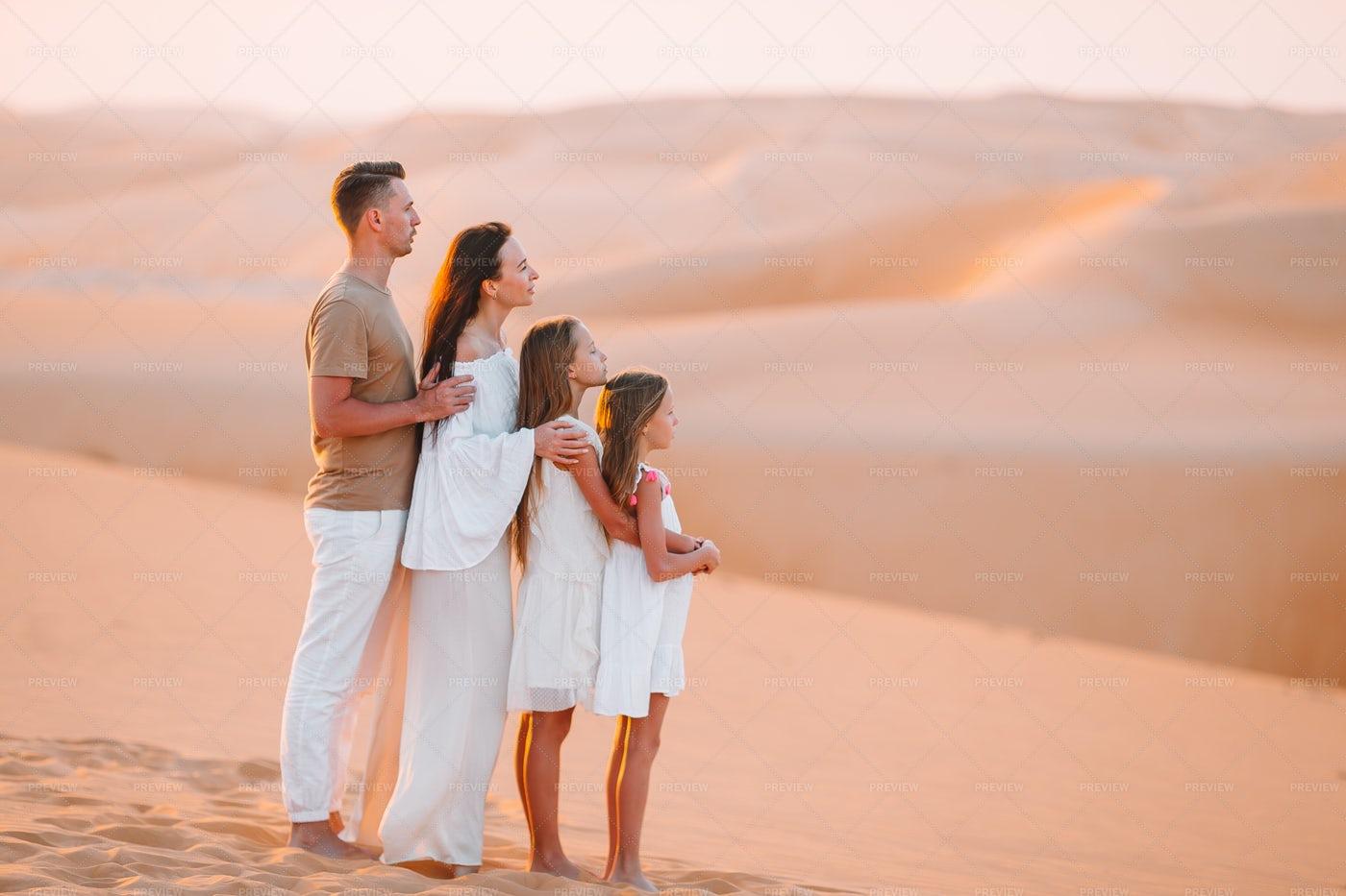 Family Among Dunes: Stock Photos