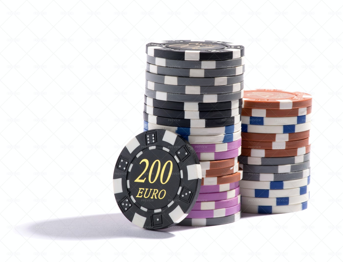 Stack Of Casino Chips: Stock Photos