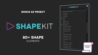 Shape Kit Script: After Effects Templates