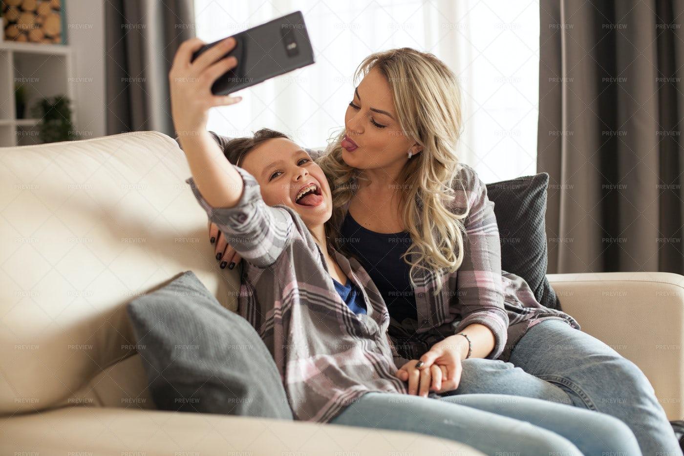 Sofa Selfies: Stock Photos