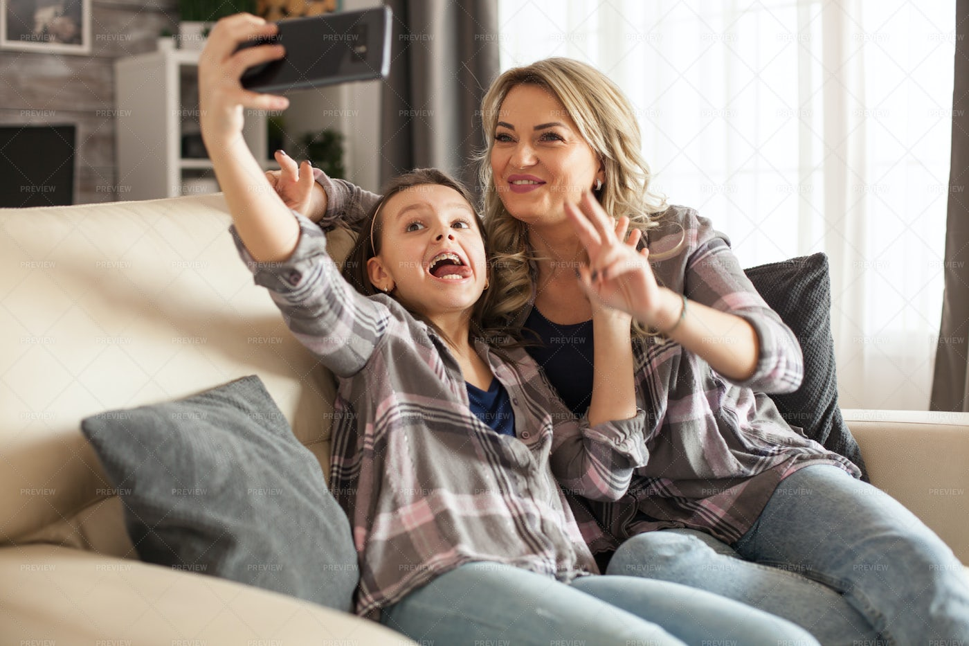 Silly Faces For The Camera: Stock Photos