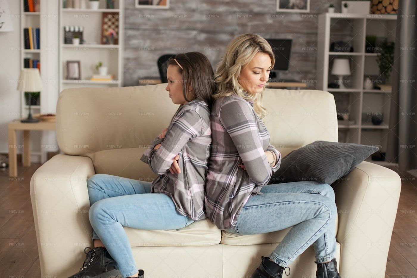 Mom And Daughter Upset: Stock Photos