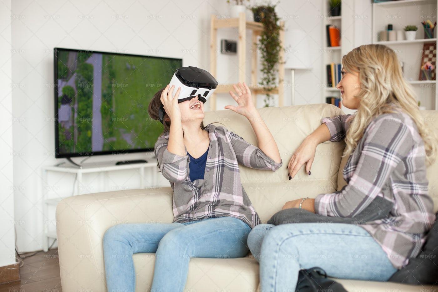 Girl Wearing VR: Stock Photos