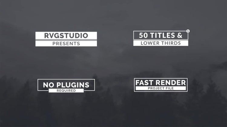Modern Titles & Lower Thirds: After Effects Templates