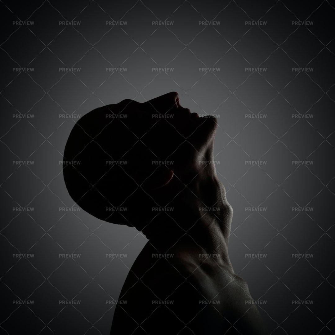 Creepy Silhouette Portrait: Stock Photos