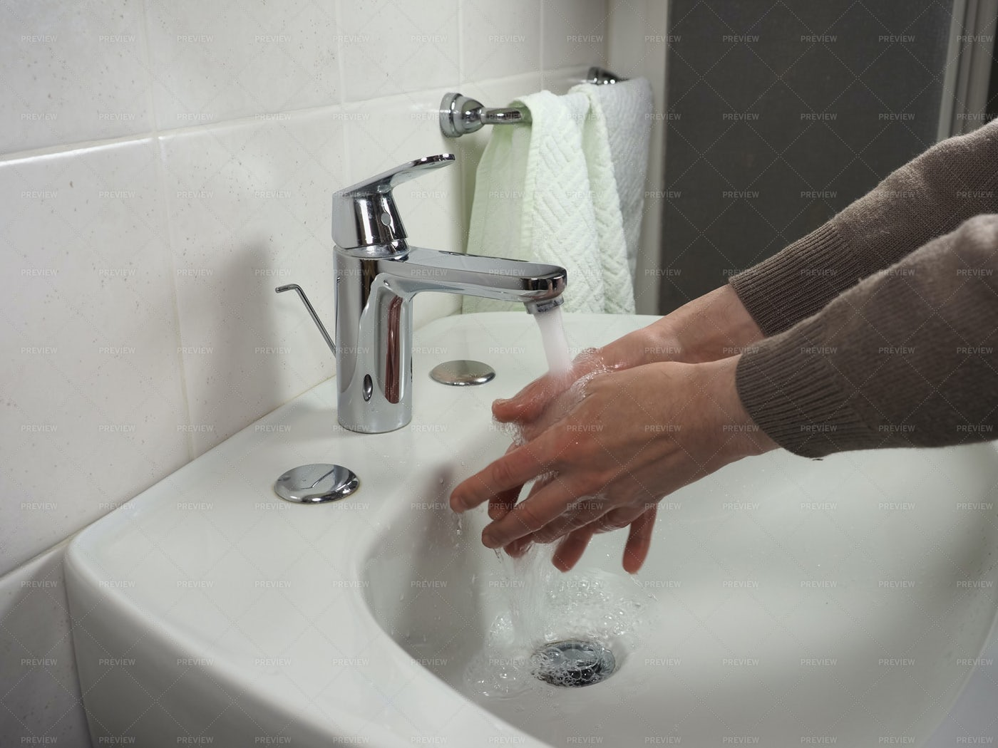 Man Washes Hands: Stock Photos