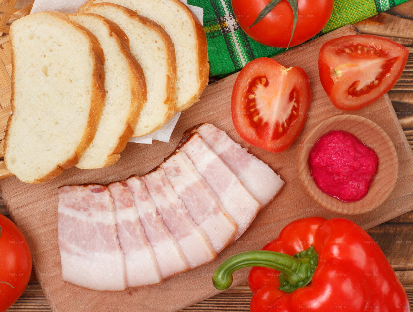 Making Ham Sandwiches: Stock Photos