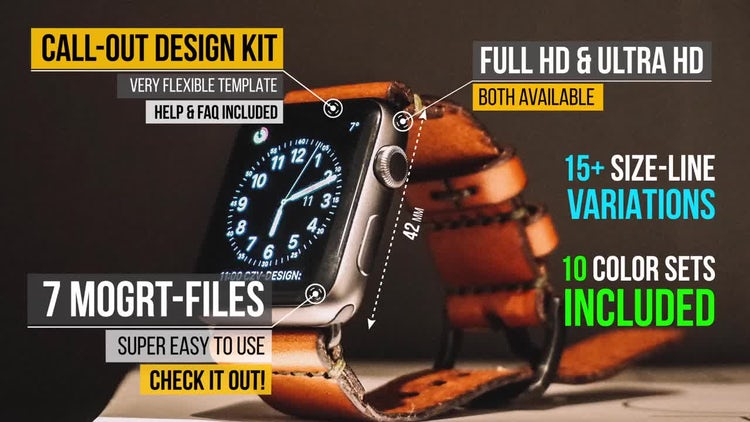 Call out titles design kit: Motion Graphics Templates