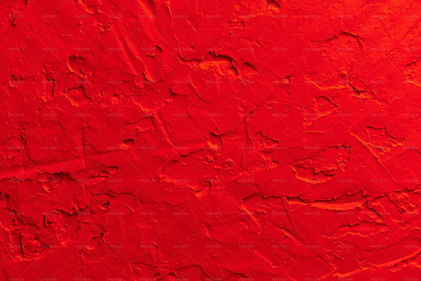 Red Concrete Wall: Stock Photos