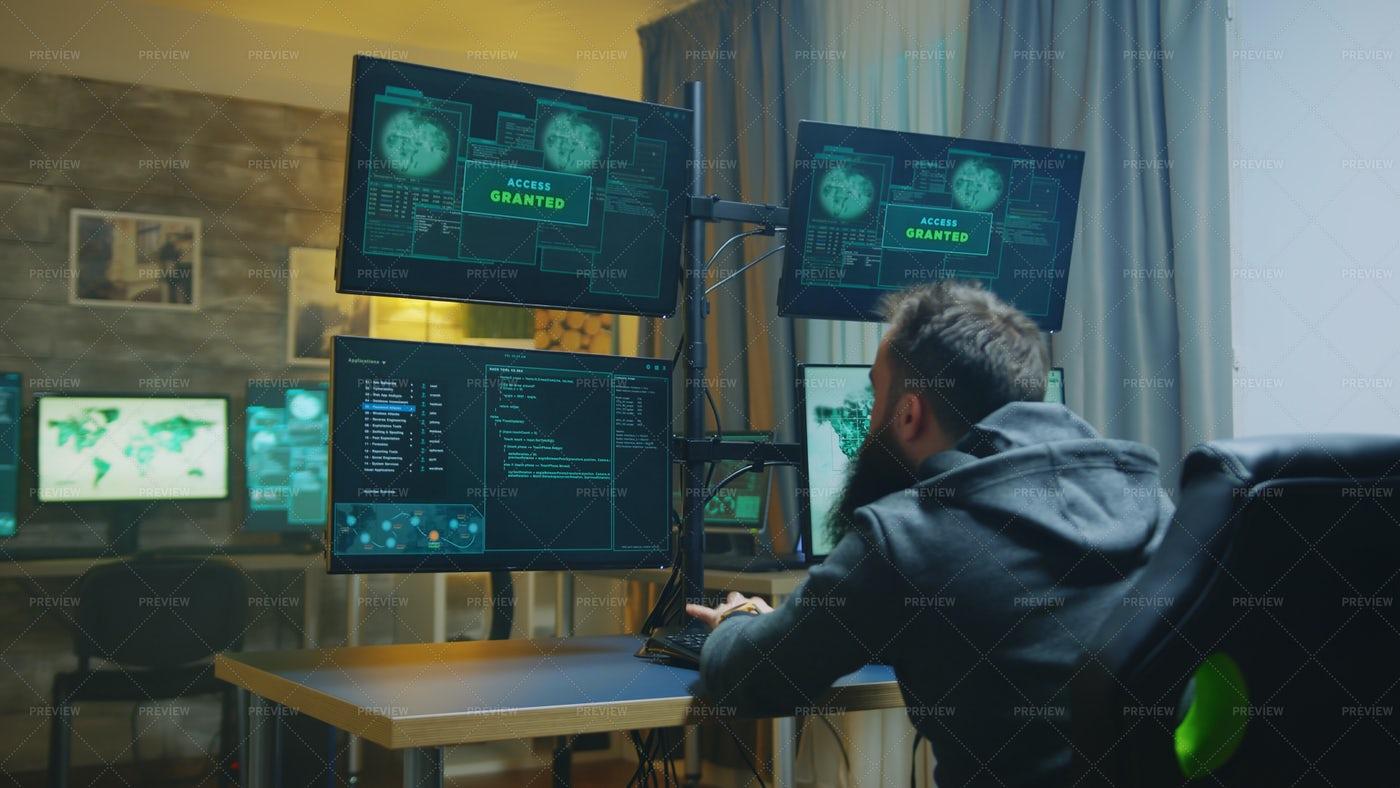 Hacker Working Hard: Stock Photos
