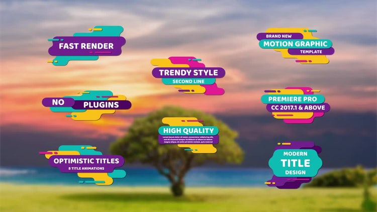 Optimistic Titles: Motion Graphics Templates