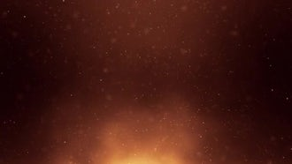 Golden Particles Background: Motion Graphics