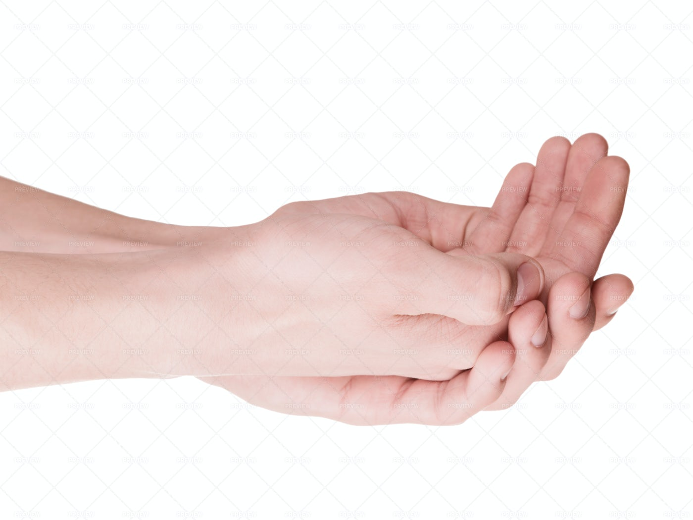 Cupped Hands: Stock Photos