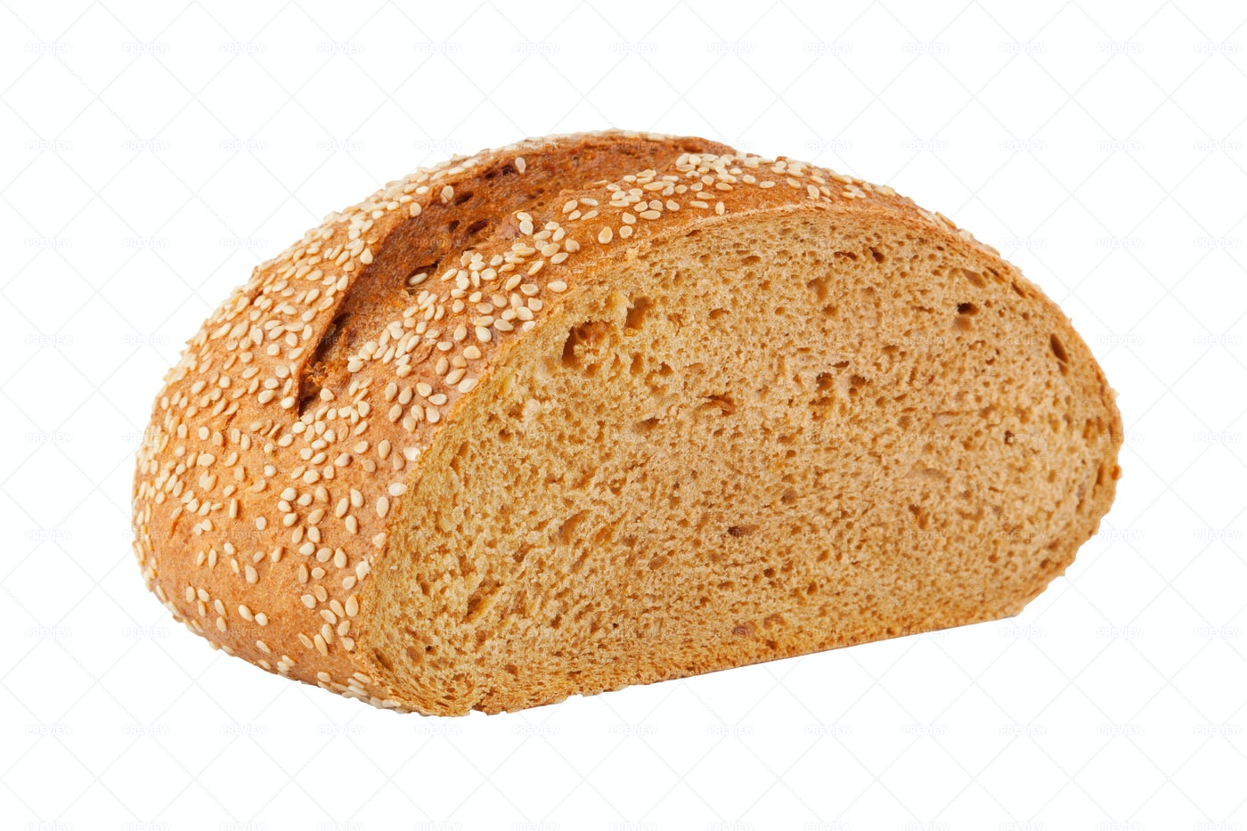 Bread With Sesame Seeds: Stock Photos