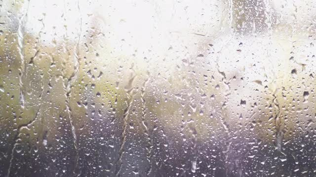 Rain Drops On Glass: Stock Video