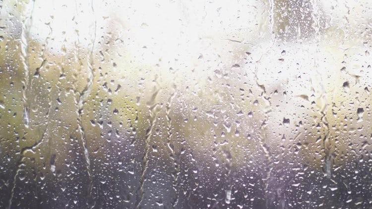 Rain Drops On Glass: Stock Video