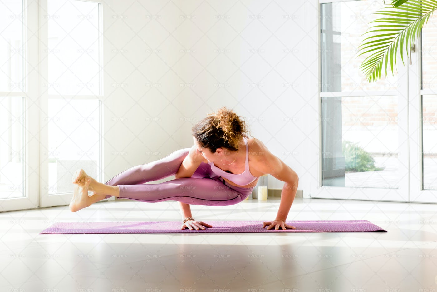 Advanced Yoga Pose: Stock Photos