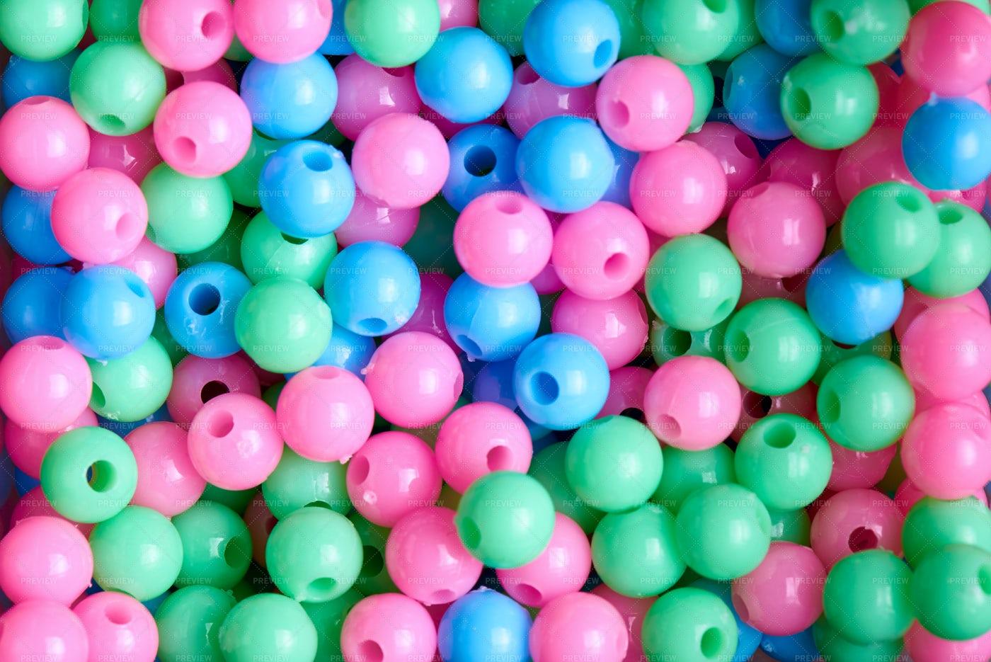 Pastel Beads: Stock Photos