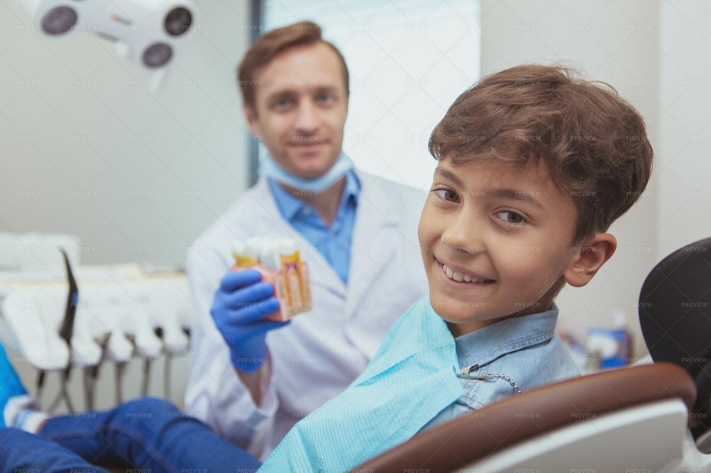 Dental Patient Portrait: Stock Photos