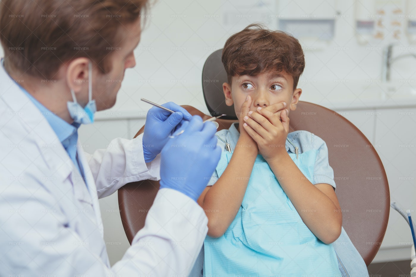 Scared Of The Dentist: Stock Photos
