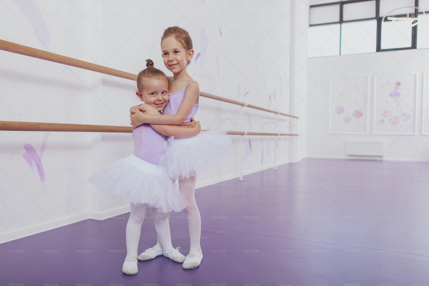 Ballerinas Embracing: Stock Photos