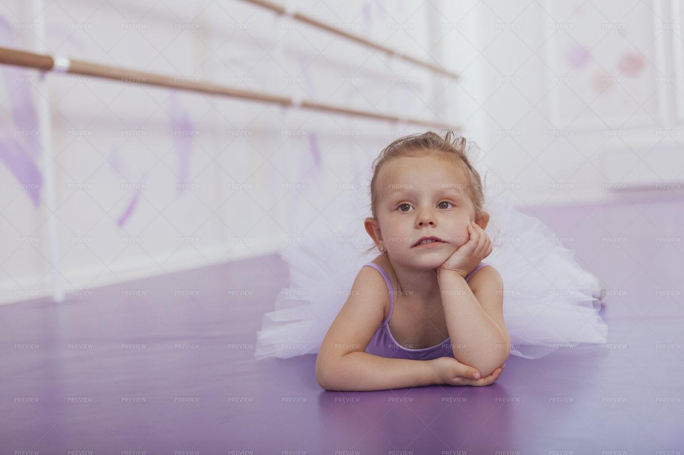 Bored At Ballet Class: Stock Photos