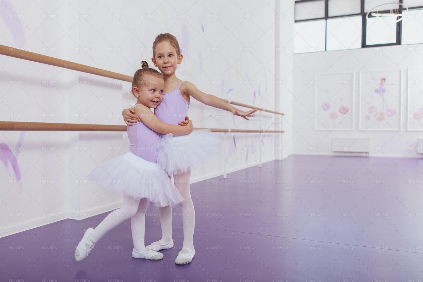 Children Practice Ballet Together: Stock Photos