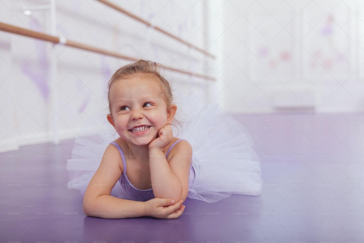 Ballerina In The Studio: Stock Photos