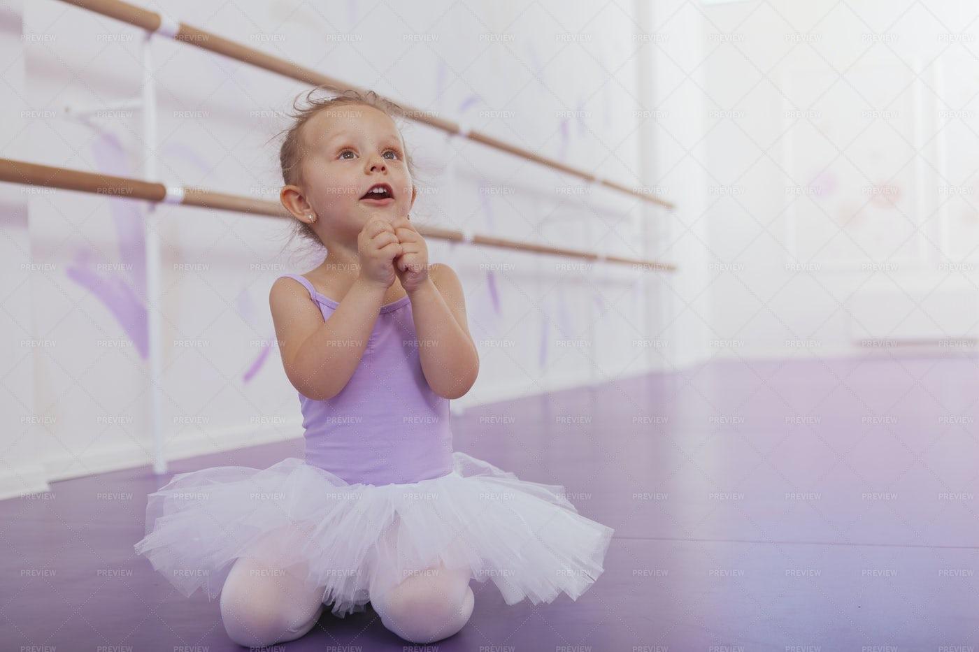 Excited Ballerina: Stock Photos