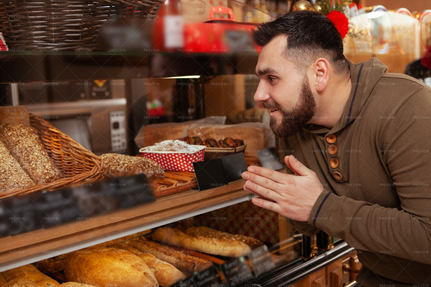 Selecting Baked Goods: Stock Photos