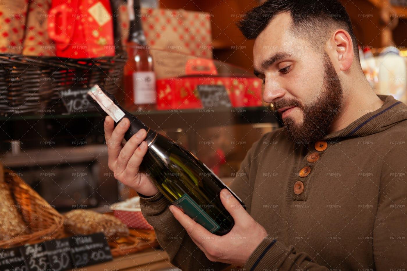 Wine At The Bakery: Stock Photos